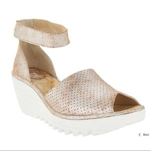Fly London Metallic Wedge Heel